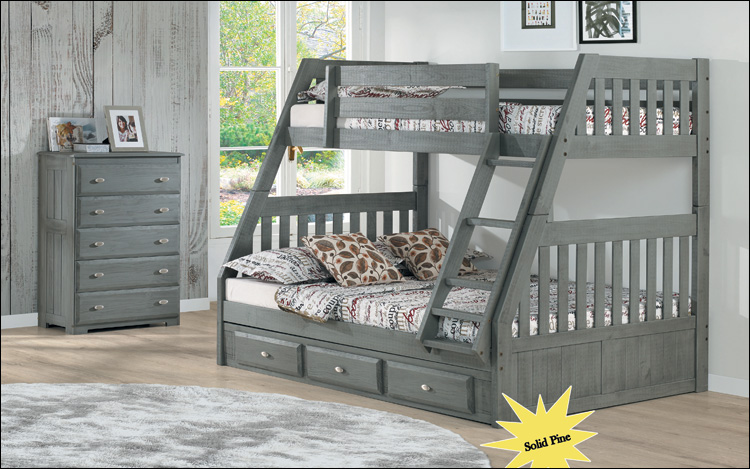 Charcoal Bunkbed Twin/Full