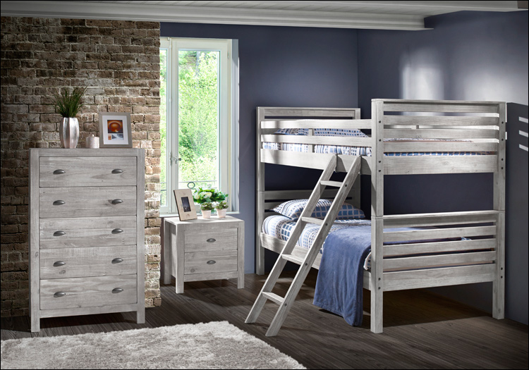 The Montauk Bunk Bed Collection - NEW Rustic Grey
