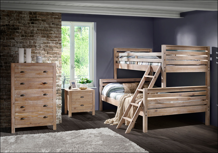 Montauk Bunk Beds - Driftwood Twin/Full